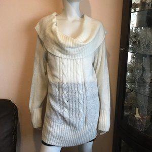 Torrid Ivory Off the Shoulder Cowl Neck Sweater